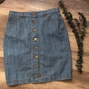 💋💋💋Vintage-y Adorable Button-Up Denim Skirt